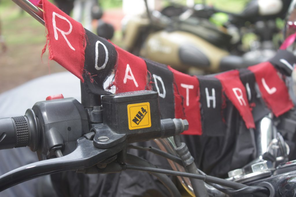 Road thrill Motorcycle Club Flag on the model of Buddhist Prayer Flags
