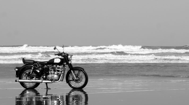 Royal Enfield Bullet Rides on Beach