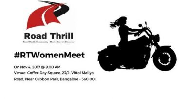 Road thrill Women Riders India Bikers Bangalore Meet Events