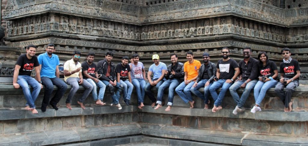 At belur temple pictures of our group from Bangalore