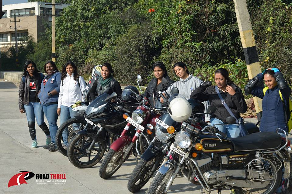 Road Thrill Women Motorcycle Club Bangalore India