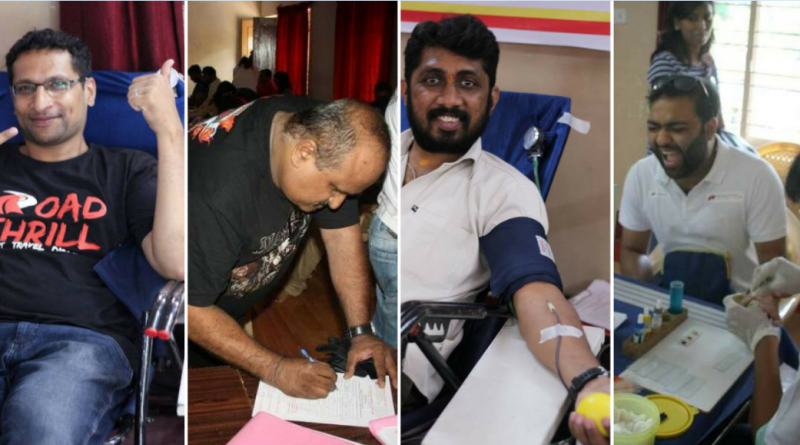 Blood donation by bikers in Bangalore Life line app