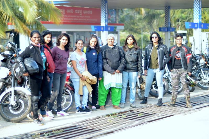 Female Riders from Road Thrill Women - RT Women Bangalore at We Are One Ride