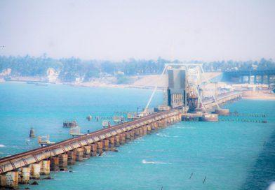 Pamban Bridge before Rameshwaram