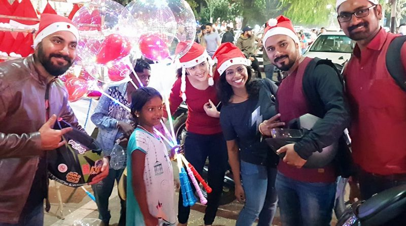 Riders dressed up as Santa for the Joy of Giving – RT Pune celebrating Christmas 2018