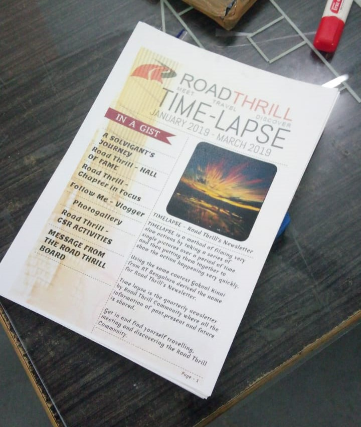 Road Thrill Time Lapse News Letter