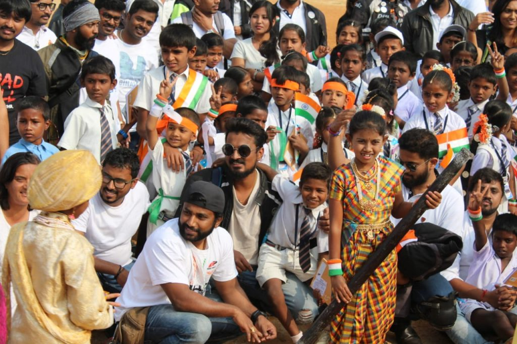 More smiles from Road Thrill Bangalore along with Kids