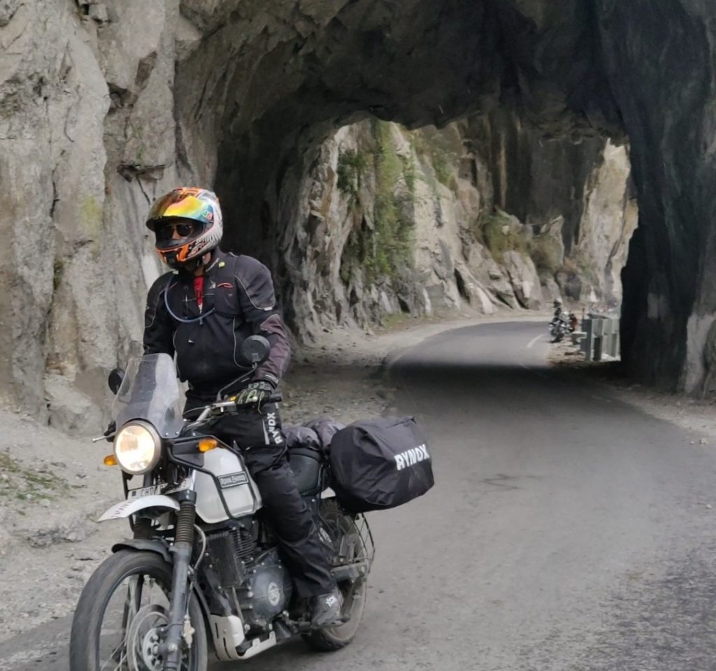 Stone cut roads in Spiti Valley
