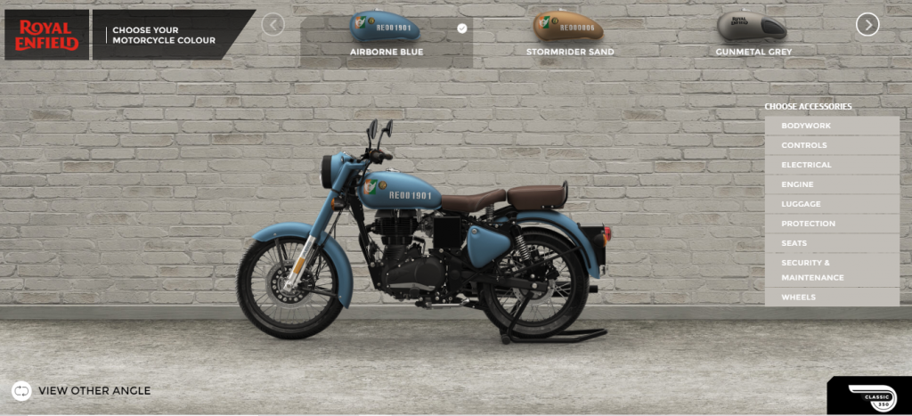 Royal Enfield Configurator Colour