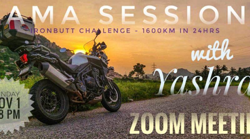 Saddle Sore Iron Butt Challenge 1600 Km India
